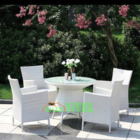 Wholesale Outdoor Furniture Villa imitation rattan chairs ensemble modern leisure club hotel restaurant teahouse