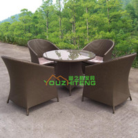 Wholesale Outdoor Furniture Villa imitation rattan chairs Leisure Hotel Packages outdoor terrace cafe tea