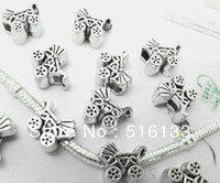 Bead Caps Fashion Beads Free Shipping 40pcs Antique Silver Baby Carriage&Buggy Charms Beads Fit European Bracelet 14x12mm