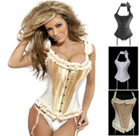 Women Corset & Bustier Christmas promotion sexy gothic corset, full steel boned corset top ,overbust bustier,body shaper