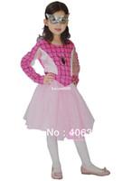 al por mayor niñas de halloween traje rosado-Envío gratis ,rosa Spiderman de traje para niña , vestido de spiderman con la máscara,el disfraz de halloween,tres de tamaño