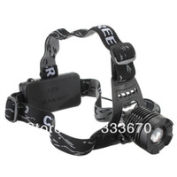 Wholesale 1800 Lumens CREE XM L XML T6 LED Adjustable Zoomable Headlamp Bike Head Torch Light