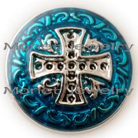 Wholesale A09998 Christian cross mm noosa chunk fine jewelry for women fashion jewelry accessries