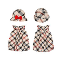 Baby Girls Summer sets dresses+ hat baby popular suits childr...