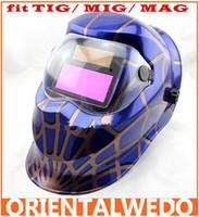 Wholesale Solar Auto Darkening Welding Helmet Arc Tig Arc MAG Mask blue welder
