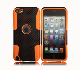 Wholesale 2 in Dot Net Shell Antiskid Cover Case for iPod Touch5 Touch PC Silicon Mesh Net Hybrid Case