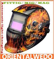 welding helmet - flame skeleton Solar Auto Darkening Welding Helmet ANSI certified mask