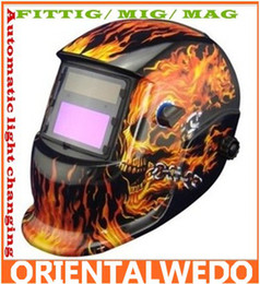 Wholesale flame skeleton Solar Auto Darkening Welding Helmet ANSI certified mask