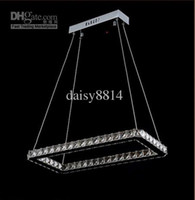 Modern Hotel 10 ~ 15sq.m Wholesale - Free shipping 2014 new minimalist fashion square design Diamond LED crystal pendant lights, modern dinning room LED chandelier