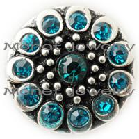 Other alloy manufacturers - A19485 mm noosa manufacturer blue rhinestone jewelry for women fashion jewelry accessries