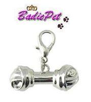 Wholesale Classic Silver Bone Shaped Dog Cat Pet Collar Decoration Charm Pet Product Dog Pendant Dog Jewelry Dog Accessory