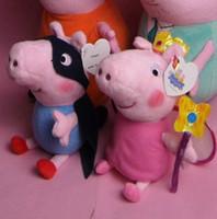 2014 new 4style children cartoon toys 19 cm peppa pig + georg...