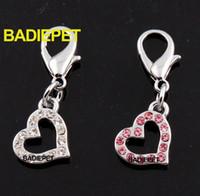 Wholesale Top Quality Luxury Crystal Mini Heart Pet Pendant Charm Fashion Pet Jewelry Decorations Pet Supplies Pet Product