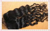 "Wholesale Cheap Brazilian Deep Curl - Cheap hair closure 4""x4 ""deep curl brazilian hair top lace closures with hidden knots natural hair line free shipping"