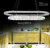 Modern Hotel 10 ~ 15sq.m Wholesale - Free shipping new modern square design two layers Diamond dinning room LED crystal pendant lights, modern LED chandelier