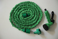 Expandable Flexible Hose And Spray Gun Expandable Flexible Garden Hose Inner Strong Rubber Outside Polyester Universal Connector+Expandable Flexible Hose 25FT 50FT 75FT + 7 Forms Spray Household Watering Kits Water Garden Hose Blue Or Green Color