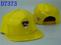 Wholesale New Yellow Leather Hater Hats Snapback Hat HIP HOP Snapback Hats Adjustable Women and Men Athletic Sport Ball Caps Mix order