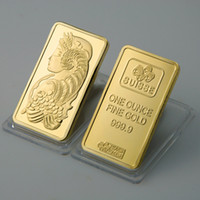 Wholesale New Suisse gold plated bullion bar hotsale one ounce fine gold without copy gold cald bar