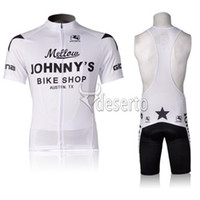 Wholesale Mellow JOHNNY S Bike Shop Cycling Jersey Sets Vest Strap Padded Women Bike Shorts Lightweight High Elastic Breathable Spandex Cycling Gear