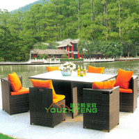 Wholesale Outdoor tables and chairs outdoor cafe tables and chairs suite hotel restaurant chairs balcony PE rattan patio chairs