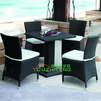 Wholesale Outdoor Furniture Villa imitation rattan chairs PE ensemble living room Cafe Hotel Leisure Club