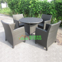Wholesale PE Rattan Outdoor Furniture Garden Chair Set Outdoor Club teahouse courtyard terrace café Hotels
