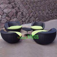 Wholesale Outdoor Garden sofa combination villa PE rattan chairs outdoor patio furniture exposed balcony cafe