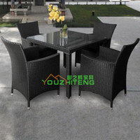 Wholesale Outdoor garden patio furniture rattan chairs PE imitation clubhouse balcony outdoor cafe bar hotel business