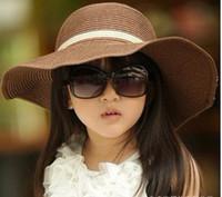 Wholesale Children Sun Hat Child Girl Beach Hat Baby Caps Kids Straw Hats Children Summer Hat