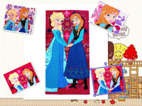 2014 New Frozen Towels Elsa and Anna Girls Beach Towels Free...