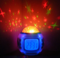 Wholesale Galaxy Star Projector Sound Machine Clock Nature Meditation Baby Night Light in stock now