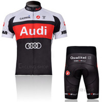 Wholesale CASTELLI Audi Garmin Cycling Jerseys Sets Road Bike Wear High Strech Cuffs for Comfort and Breathable Mesh Fabric for Cyclists