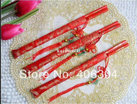 Wholesale Wood Chinese wedding chopsticks with Chinese knot printing Double Happiness and Dragon wedding gift favor