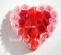 Wholesale by EMS Magic rose soap flower flowers in a box wedding favor valentine s day gift unique gift many colours