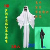 Halloween Other Holiday Supplies Zhejiang China (Mainland) Free shipping,1m,halloween Haunted house bar decoration props, halloween hanging ghost,sound control,hand shaking