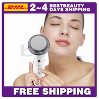 Wholesale 3 in Ultrasonic face and body slimming Beauty massage for portable homeused weight loss equipment Free DHL