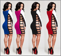 Wholesale 2014 Summer women s clothing Sexy and club the side hollow out sheath evening night bar Package buttocks dress