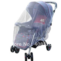 Wholesale New Arrive White Buggy Infant Pram Protector Pushchair Stroller Mosquito Net Fly Midge Insect Bug Cover Mesh Netting