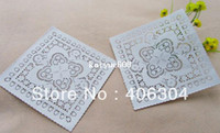 100% Cotton lace doilies - square white paper doilies inch cm paper lace doilies placemat cake bakey package