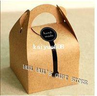 Wholesale by FEDEX single cupcake boxes gift cake kraft paper cookie boxes cake box cm cm cm