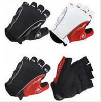 Wholesale Castelli Rosso Corsa half finger Cycling Gloves scorpions mountain bike riding silicone GEL gloves