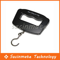 Hanging Scale 50kg/10g  Free shipping 50kg 10g Portable LCD Digital Fish Hanging Luggage Weight Electronic Hook Scale Wholesale