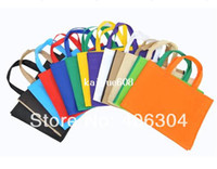 Wholesale by FEDEX g customized logo printed non woven shopping bag with side gusset handbag hot sealed CM cm cm