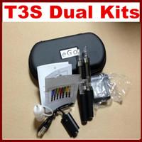 T3S Dual Electronic Cigarette Kits T3S Atomizer 650mah 900ma...