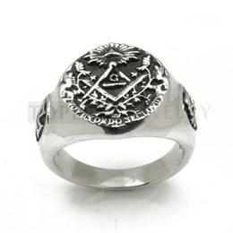 Wholesale Stainless Steel Masonic Skull Maltese Cross Ring MER05