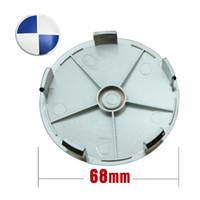Wholesale Hub cap wheel cap mm Blue amp white Wheel Cover Badge Emblem