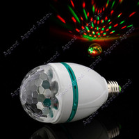Wholesale Full Color Change W E27 LED Crystal Stage Light Voice activated DJ party stage Light Bulb Lamp Atmosphere Lamp