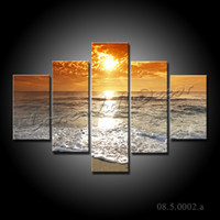 Wholesale NO FRAME CANVAS ONLY pieces x70cm wall pictures sunset above the sea home decoration canvas prints