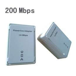 Wholesale 200Mbps Wall mount Powerline Ethernet Network Homeplug Electric Adapter communication network adapter fast stable Signal Amplifiers hot sale