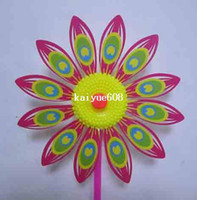 Wholesale Children plastic sunflower windmill cm length cm diameter windmill toy several colors
